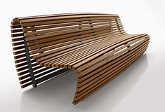 Outdoor Bench Seating - modern outdoor wood bench by B&B Italia