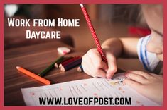 n Today's post you will learn how to make money by opening a daycare from your home. Opening A Daycare, Behavioral Issues, Home Daycare, Early Childhood Education, Care About You, Money From Home, You Are Awesome, Trust Yourself, Childcare