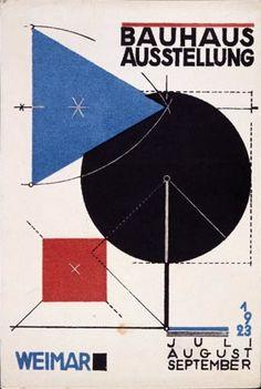 New  for the Bauhaus Exhibition in Weimar summer Colour lithograph on cardboard x cm Bauhaus Archiv Berlin Photograph Markus Hawlik VG Bild Kunst