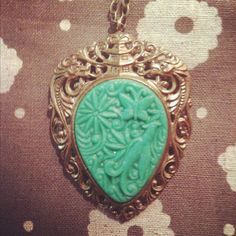 Green+Dynasty+Pin+Necklace+by+ilivetocreate+on+Etsy,+$25.00