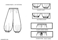 Stylish {HAREM PANTS} - DIY pattern to sew them - Sew Guide
