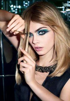 Copy Cara's graphic eye makeup
