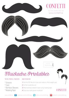 moustaches printable