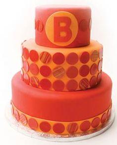 Orange tile cake