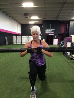 Deep lung using the water filled tube. Unstable equipment encourages extra core strengthening. Brain focus!!!!