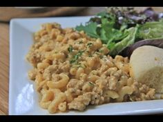 Homemade Hamburger Helper- Cheeseburger Macaroni- good, figure out what cheese is the best, no more white cheddar Pasta Recipes, Beef Recipes, Dinner Recipes, Cooking Recipes, Dinner Ideas, Yummy Recipes, Game Recipes, Chicken Recipes, Hamburger Recipes