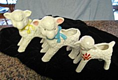 Vintage McCoy lamb planters for sale at More Than McCoy at http://www.morethanmccoy.com