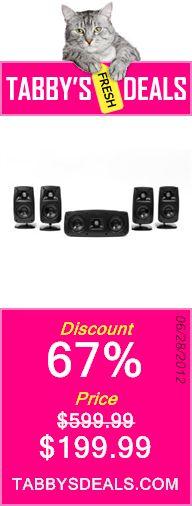 Klipsch QUINTET 5.0 Speaker System (Black HG) $199.99