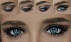 Lily Collins make up look using Urban Decay Naked Palette - via Barbie Mutation