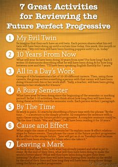 7 Great Activities to Review the Future Perfect Progressive