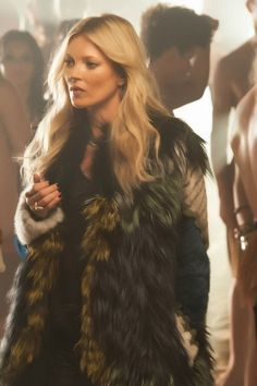 Kate Moss on set of George Michael's 'White Light' video July 2012