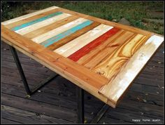 Reclaimed Salvaged Wood Dining Table Desk by HappyHomeAustin