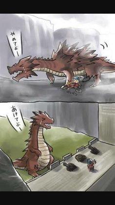 Monster hunter makes a friend
