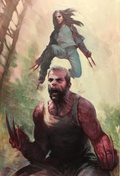 Marvel Comics – Logan and Laura / Wolverine and lithograph signed by artist Gabriele Dell'Otto London Super Comic Con Exclusive - Limited Edition only 30 produced! Marvel Wolverine, Marvel Dc Comics, Heros Comics, Logan Wolverine, Bd Comics, Marvel Art, Marvel Heroes, Captain Marvel, Wolverine Movie