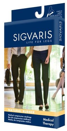 bcc4426b3 Sigvaris 504NL4077 Natural Rubber 40-50 mmHg Open Toe Unisex Thigh High  Sock with Grip-Top Size  L4