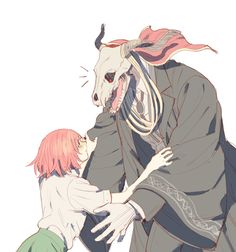 i watched the ancient magus bride (currently reading the manga too!) and im Shook Me Anime, Anime Love, Anime Manga, Anime Art, Elias Ainsworth, Chise Hatori, Tamako Love Story, The Ancient Magus Bride, Fan Art