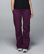 Unlined studio pant from Lululemon in Plum