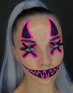 Dope Makeup, Eye Makeup Art, Clown Makeup, Crazy Makeup, Mua Makeup, Crazy Halloween Makeup, Beautiful Halloween Makeup, Halloween Face, Horror Makeup