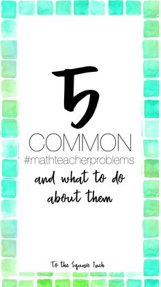 Common problems math teachers have and what to do about them- plus free activities! Teacher Tips, Math Teacher, Math Classroom, Stem Teaching, Teaching Ideas, Real Life Math, Teacher Problems, Math Workbook, Order Of Operations