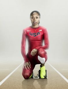 039 Allyson Felix - American Track And Field Sprint Athlete Poster Olympic Athletes, Olympic Team, Olympic Games, Allyson Felix, London Summer Olympics, Us Olympics, Team Usa, Nike Outfits, Track Uniforms