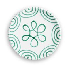 Grüngeflammt, Dessertteller Cup (Ø 20cm) - Hier geht's zum Produkt #handbemaltes Geschirr #gmundner #keramik #einrichten Dishwasher, Shapes, Pure Products, Tableware, Hand Painted Dishes, Microwave, Handmade, Colour