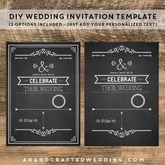 Chalkboard Birthday Invitation | Birthday invitation templates ...