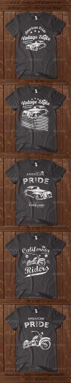 5 American Pride T-shirt Template Vector EPS, AI. Download here: http://graphicriver.net/item/5-american-pride-tshirt/7664602?ref=ksioks