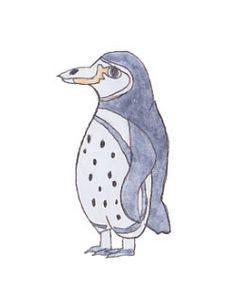 第6弾スタンプ。絶滅危惧種「ガラパゴスペンギン」の愛らしいイラスト。呑気に気ままに生活している。 http://line.me/S/sticker/1021815