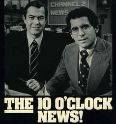 "WBBM-TV Channel 2's ""Dream Team,"" Bill Kurtis and Walter Jacobsen ""skippy"" #chicago #channetwo #wbbm"
