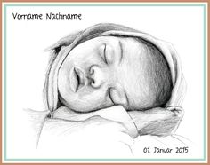 Artouche zeichnet Babykarten und lässt sie drucken! Auf Anfrage bei www.a-r-touche.com