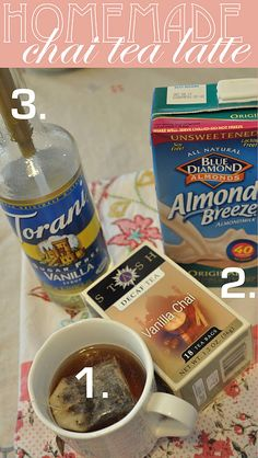 Domestic Fashionista : At Home Barista :: Vanilla Chai Tea Latte Recipe