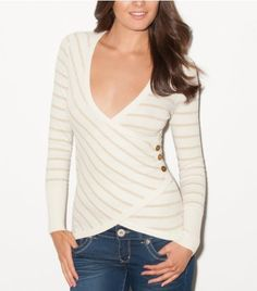 G By Guess Eustoma Crossover Sweater by GByGUESS  $54.50