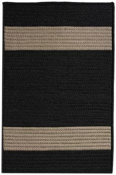 "Cafe Milano Area Outdoor Area Rug, 1'10""x2'10"", BLACK by Home Decorators Collection. $49.00"