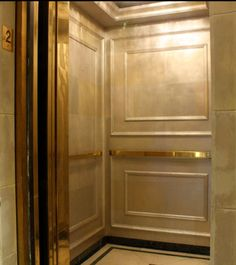 silver block design for Vintage ElevatorDecorative Painting Ideas for a Trey/Tray Ceiling Lift Design, Cabin Design, House Design, Elevator Door, Elevator Lobby, Amazing Architecture, Interior Architecture, Elevator Design, Interior Design Boards