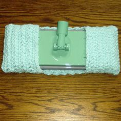 Use leftover yarn for this Crochet Mop Cover.