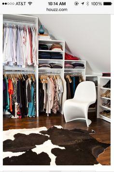 Closet idea for those tight spaces