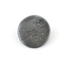 """Nasture Metalic cu Piciorus pentru Cusut Marimea 28"""", Culoare Zama Nera, Cod C660/28-ZN Coins, Personalized Items, Metal, Design, Rooms, Metals"""
