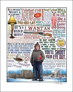 You'll Shoot Your Eye Out A Christmas Story tribute by ChetArt, $25.00