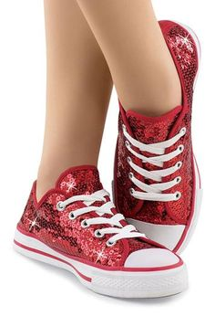 Low Top Sequin Dance Sneakers - Perfect for a Dorothy - Wizard of Oz costume