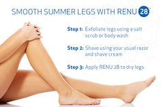 Heading to the beach? Don't forget to use RENU 28 for a smooth finish to shaving!
