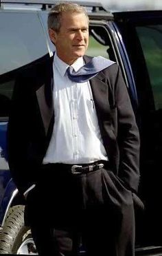 President George W. Bush and his GQ look