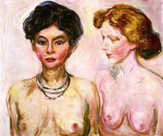 Blond and Dark-Haired Nude Edvard Munch - 1902-1903