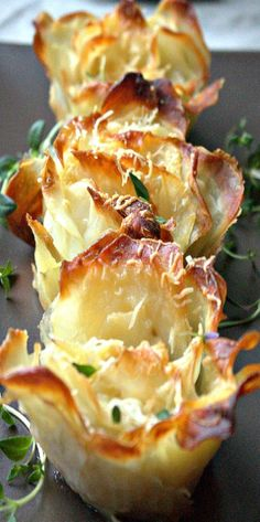 Parmesan and Thyme Potato Roses