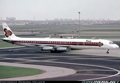 Photo taken at Amsterdam - Schiphol (AMS / EHAM) in Netherlands in Late Thai International, Douglas Dc 8, Douglas Aircraft, Luxury Jets, Thai Airways, Airplane Art, Full Size Photo, Photo Search, Aircraft Pictures