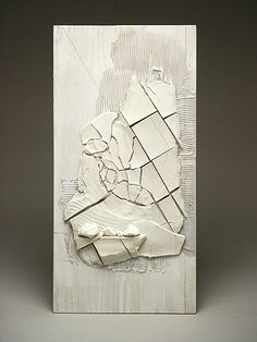 Margaret Boozer:  Landscape Sketch (2004) porcelain, plywood, mastic, pencil…