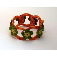 flower bracelet crochet