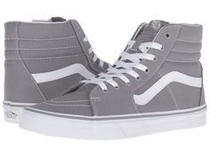 Shop Women's Vans Gray White size 7 Sneakers at a discounted price at Poshmark. Gray High Top Vans, Grey Vans, White Vans, Gray Shoes, Skate Shoes, Vans Shoes, Estilo Vans, Vanz, Crocs Classic