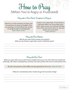 How to pray with a pure heart, pure motives, and pure trust. Free printable included!