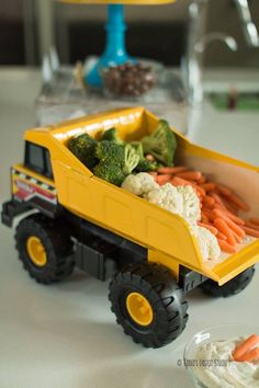 Dump Truck Veggie Platter from a Construction Birthday Party via Kara's Party Ideas! KarasPartyIdeas.com (21)