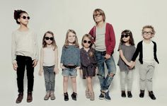 Very French Gangsters : New Eyewear for Kids    Love those kids,, and glasses
